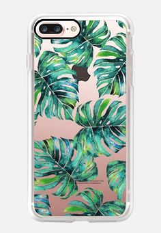 Monstera + Pastel Pink iPhone & iPod Case iPhone 7 Plus Hülle by Uma Gokhale…