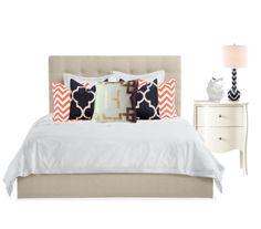 Bedroom - navy coral gold                                                       …