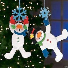 Ideas para navidad - N. Christmas Activities, Christmas Crafts For Kids, Winter Christmas, Holiday Crafts, Christmas Holidays, Christmas Decorations, Snowman Crafts, Ornament Crafts, Xmas Ornaments