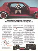 Sony SoundField System Car Stereo 1982 Ad Picture