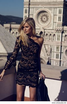 Sexy short black dress