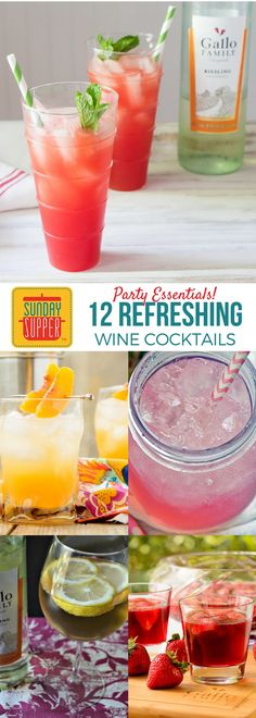 Simple mixed drinks are a must for any good party! These Sunday Supper recipes will teach you how to make mixed drinks and will keep your party going all night long! #SundaySupper