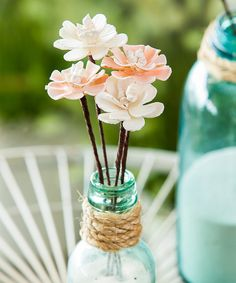 Look at this Seashell Flower Picks Skinny Vase Set on #zulily today!