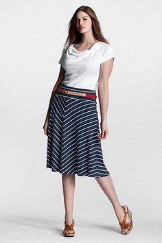 Women's Pattern Knit Convertible Skirt from Lands' End