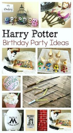 Birthday Party : Image : Description Harry Potter Birthday Party Ideas for Kids: Birthday cake, wands, decorations, how to make a quill craft, and more! Baby Harry Potter, Chapeau Harry Potter, Harry Potter Enfants, Harry Potter Motto Party, Harry Potter Fiesta, Harry Potter Thema, Theme Harry Potter, Harry Potter Party Games, Harry Potter Quill