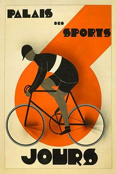 Cycling Six-Day Racing (6 Jours, Palais des Sports) c.1930 Vintage Poster Reprint