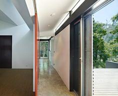 open hallway house interior simple design form
