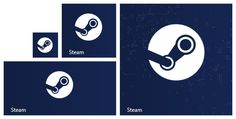 Steam Modern UI Tile Icon for Windows 8 / 8.1 / 10 by RexAdde on DeviantArt