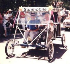 The first sun-powered automobile was demonstrated in Chicago in 1955.
