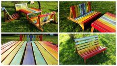 Just in homage to Mister Mandela!       #Colors, #Garden, #PalletBench, #PalletChair, #PalletTable
