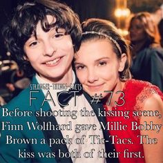 (Sorry you guys, it actually was only Millie's first kiss, I messed up)