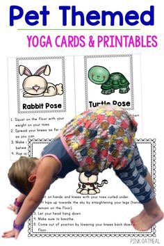 The pet theme is so much fun! These pet themed gross motor activities are the best. The simple kids yoga moves all have a pet theme associated with them so kids can move like animals! Love this for pet themed preschool and older kids as well!