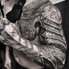 Tatuaże Męskie Zbroja 3d Tattoos Pinterest Armor Tattoo