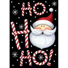 Toland Home Garden Ho Ho Ho Santa 28 x 40 inch House Flag Outdoor Christmas Tree Decorations, Diy Christmas Garland, Christmas Mantels, Christmas Balls, Christmas Lights, Christmas Fun, Christmas Canvas, Christmas Stickers, Christmas Countdown