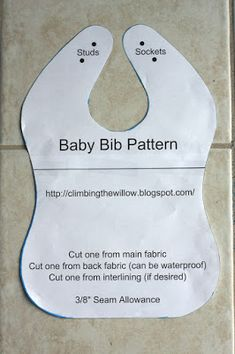 Baby bib - download pdf pattern at Craftys