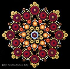 "A collection of five dot mandala patterns inspired by the colours of fall. Instructions range in difficulty level from beginner to more advanced and completed sizes range from 4.5"" x 4.5"" to 6"" x 6."" Pattern Club members can apply their promo code. Published August 31, 2017. #Ranges"