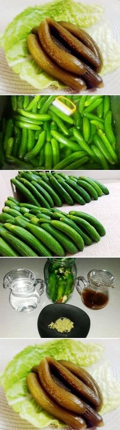 Persian style pickled cucumbers, ready to serve just after 30 days