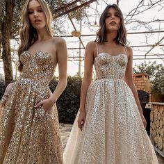 #Berta #vakkowedding #bridal Bridal Dress Shops, Bridal Wedding Dresses, White Wedding Dresses, Chiffon Dress, Strapless Dress Formal, White Sparkly Dress, Wedding Dresses Australia, Elopement Dress, Bride