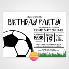 Sports theme Birthday Party Invite  ▬▬▬▬▬▬▬▬▬▬▬▬▬▬▬▬▬▬▬▬▬▬▬▬▬▬▬▬▬▬▬▬▬▬▬▬ ::DIGITAL PDF FILE ONLY - no hard copy prints:: ▬▬▬▬▬▬▬▬▬▬▬▬▬▬▬▬▬▬▬▬▬▬▬▬▬▬▬▬▬▬▬▬▬▬▬▬ This listing is for a 5x7 horizontal single-sided layout.  There will be NO physical item shipped to you. You will receive final 5x7 .pdf (with crop marks and bleeds) of the invitation via Etsy conversation. If you have any questions please message me.  **Upon request only, you will receive a digital version of the invitation for…