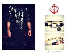 SALTI COMBO 2 pour 1 Bracelet nautique  3ème par SALTIBRACELETS