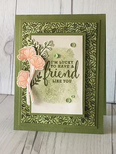 Old Olive pattern from the Share What You Love prerelease suite from Stampin' Up!