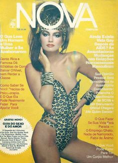 Just love 80's covers; here brazilian cosmopolitan magazine (Nova) from march 1986, with model Luiza Brunet