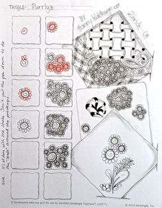 "Zentangle Step Out ""Purrliz"" by Hanny Waldburger"