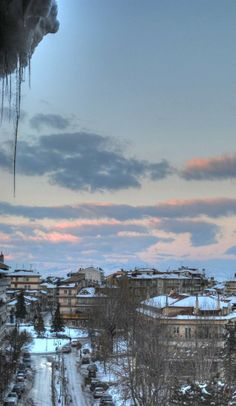 Icy Florina, from my balcony Macedonia, Crete, Athens, The Good Place, Cool Photos, To Go, Clouds, Island, Explore