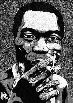 Fela Kuti was a Nigerian multi-instrumentalist, musician. Album Art, Black Panther Art, Illustration Art, Panther Art, Fela Kuti, African Art, Artwork, Digital Art Illustration, Portrait Art