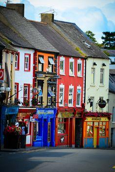 Soul Mission Pubs along High Street in Kilkenny Ireland Ireland Pubs, England Ireland, England And Scotland, Ireland Travel, Ireland Vacation, Erin Go Bragh, Colourful Buildings, Emerald Isle, British Isles