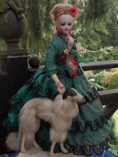 ~~~ Marvelous French Bisque Poupee in Original Costume ~~~