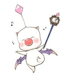 """Final Fantasy XIII-2 Mog Artwork  He looks like he like """"YOLO"""""""