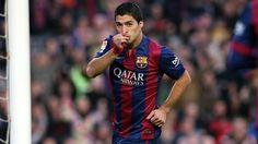 Luis Suarez scoring against Atletico Madrid 1/11/15 La Liga match