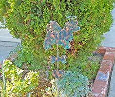 Cairn Terrier Angel Dog Metal Garden Stake / Pet Memorial / Garden Copper Art / Pet Grave Marker / Cairn Sculpture / Outdoor Garden Art by GardenCopperArt on Etsy