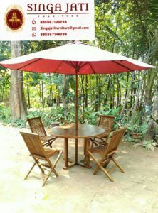 Kursi-Lipat-Meja-Payung- Online Furniture, Patio, Interior, Outdoor Decor, Home Decor, Terrace, Indoor, Interiors, Interior Design