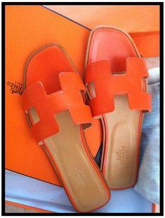 #hermes #sandals #orange #hermessandalsorange . Hermes Slippers, Hermes Shoes, Hermes Bags, Sandals Outfit, Shoes Sandals, Flats, Birkin, Hermes Orange, Orange Shoes