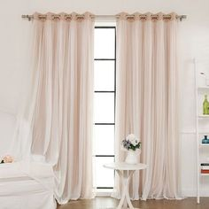 Features: -Helps regulate room temperatures to reduce heating and cooling costs. -Each panel has 8 stainless steel nickel grommets. Product Type: -Panel pair. Pattern: -Solid. Material: -Lace. N