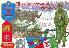 """""""Repubblica Sociale Italiana (R.S.I.) Decima Flottiglia Mas: Battaglione 'Fulmine' – III Compagnia Volontari di Francia"""", Alberto Parducci"""