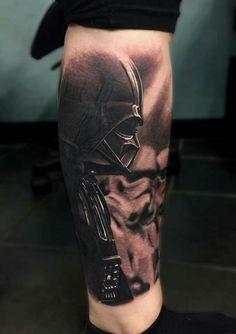 Death Star Tattoo, Tatoo Star, Star Trek Tattoo, Star Tattoos, Great Tattoos, Leg Tattoos, Body Art Tattoos, Sleeve Tattoos, Tattoos For Guys