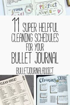 Bullet Journal Spreads for Cleaning Schedules - Cleaning Schedule Bullet Journal Layouts - 11 Super Helpful Cleaning Schedules for Your Bullet Journal schedule bullet journal Bullet Journal Addict - 11 Bullet Journal Cleaning Schedules Bullet Journal Index, Bullet Journal Monthly Spread, Bullet Journal Printables, Bullet Journal Layout, Bullet Journals, Journal Fonts, Bullet Journal Cleaning Schedule, Cleaning Schedules, Cleaning Hacks