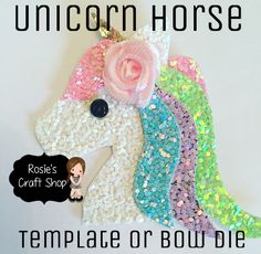 Unicorn Horse Plastic Template or Die Compatible with Big Shot – Rosie's Craft Shop