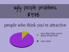 The problem is even my mom KNOWS I'm ugly :')