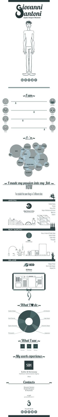 340 best Infographic and Visual Resumes images on Pinterest in 2018