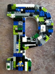 Custom toy brick letter P