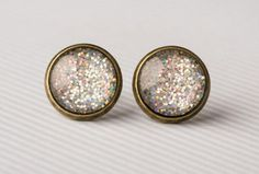 Chunky Holographic Glass Earrings