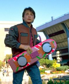 Michael J Fox. Back to the Future pt II. 1989   ahhh yes, where's our hoverboards???