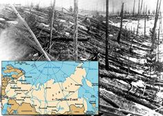 The Tunguska Explosion in Russia occurred around 7:14 a.m. on June 30, 1908. To this date, the exact cause of the explosion – which leveled 80 million trees over 830 square miles – remains a heated debate. Most believe it to be caused by a meteoroid fragment, others insist either a black hole or UFO origin.