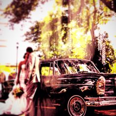 Wedding a classic car Mercedes Benz