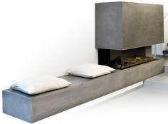 RoomStone Exklusives aus Sichtbeton Beton Design Außentreppe Innentreppe Best Picture For fireplace romantic For Your Taste You are looking for something, and it is going to tell you exactly what you Fireplace Hearth, Home Fireplace, Modern Fireplace, Living Room With Fireplace, Fireplace Design, Home Living Room, Fireplace Ideas, Fireplace Outdoor, Concrete Stairs