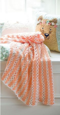 Baby Blankets - 8 Crocheted Baby Blankets | Leisurearts.Com